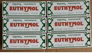 Euthymol Original Toothpaste Brand of Antiseptic - 6 x 75ml — 01/2020 expiry