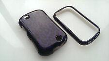For Sprint Kyocera Milano C5120 Rubberized HARD Case Phone Cover Purple Leopard