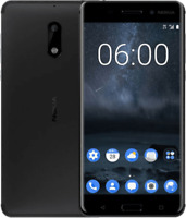 "NOKIA 6 Black 4gb 64gb Octa Core 5.5"" Screen 16Mp Dual Sim Android Smartphone"