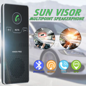 Sun Visor Wireless bluetooth 4.0 Hands Free Car Kit Speakerphone Speaker Phone