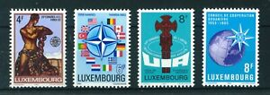 Luxembourg 1983 Anniversaries and Events set of stamps. MNH. Sg 1104-1107