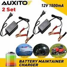 2 Set Car Motorcycle Battery Charger Auto Float Trickle Maintainer DC 12V 1.5A