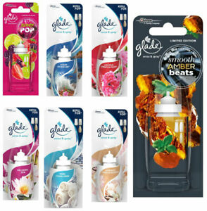 Glade Sense & Spray Smooth Amber Beats, Peony & Cherr, Clean Linen Refill Berry