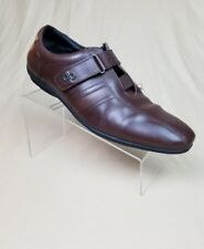 Men's Bianco Brioni BB Euro Oxfords Sneaker Bycicle Toe Brown Leather Size 12