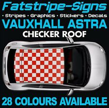 VAUXHALL ASTRA CHECKER ROOF GRAPHICS STICKERS STRIPES DECALS VXR MK4 MK5 MK6 MK7