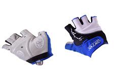 Carnac Superleggero Fingerless Cycling Gloves Mitts Magnetic Padded Blue/Black