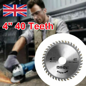 "For Angle Grinder 4"" 40 Teeth 110mm Circular Saw Blade Disc Wood Cutting Tool UK"