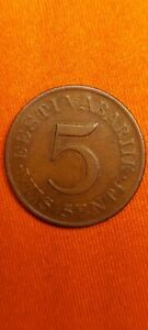 Estonia 5 Senti 1931 Bronze 1st Republic