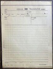 India 1880s 64 word telegram form unused