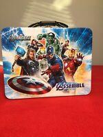 Marvel Avengers Tin Box Lunch Box  3D Embossed Lid