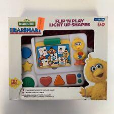 Vintage Sesame Street Headsmart Flip N Play Light Up Shapes -NEW
