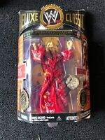 WWE WWF Classic Superstars Deluxe Ric Flair Signed Auto Wrestling Figure