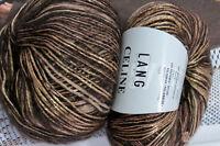 600g Celine Taupe Sand Braun Wolle Lang Yarns Lana UVP 95,40 € Mohair stricken