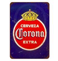 CERVEZA CORONA EXTRA Vintage METAL TIN SIGN Retro Beer Bar Pub 30cm x 20cm