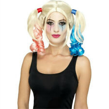 Smiffy's Women's Twisted Harlequin Wig Blonde Pigtails Harley Quinn