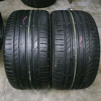 2x Summer Tyres Continental Conti Sport Contact 5 315/35/20 R20 110W Runflat SSR