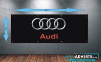 CAR LOGOS AUDI or ANY MAKE - Workshop, Garage, Office or Showroom PVC BANNER