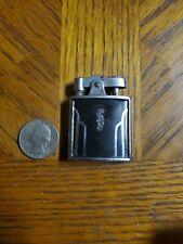 WORKING Vintage Ronson De-Light Black Silver Tone Automatic Lighter Engraved FDG
