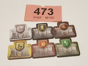 A Game of Thrones The Board Game 2nd Edition House Castle 6 VICTORY TRACK Tokens