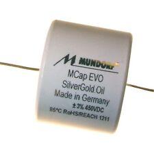 MUNDORF MCAP EVO ARGENTO ORO. OLIO OIL 10uf 450v Audio condensatore Capacitor 853813