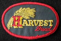 "HARVEST BREAD EMBROIDERED SEW ON PATCH FOOD UNIFORM ADVERTISING 3 1/2"" x  2 1/4"""