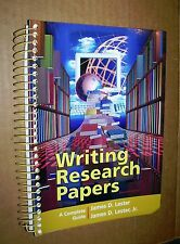 Writing Research Papers! A Complete Guide! SC! Spiral Bound w/Tabs! VG Cond!+NR!