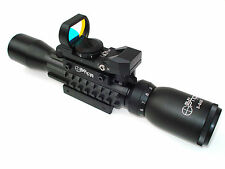 Sun Optics USA 3-9X32 Tactical Tri Rail Combo W/ Mil Dot Red & Green Reticle New