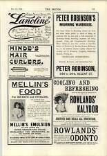 1894 Mortimer's Dye Works Plymouth S A Allens Hair Restorer
