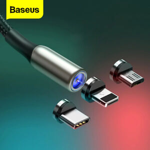 Baseus Zinc Magnetic USB Cable for iPhone Type C Micro Charging - 1m 2m