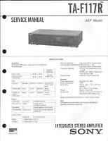 Sony Original Service Manual für TA-F 117R