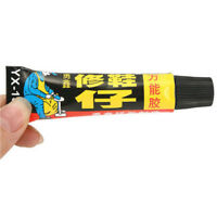 Super Adhesive Repair Glue For Leather Shoe 18ml Rubber Canvas Tube Strong Bond