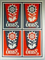 Shepard Fairey 2006 Classic ed150 Signed & Numbered 'Rise Above Stamp'