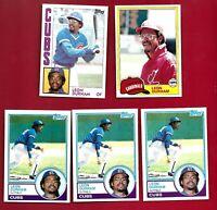 LEON DURHAM 5 CARD LOT TOPPS 1981 #321 83 #125 84 #565