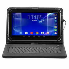 """iRULU 10.1"""" Android 6.0 Quad Core Dual Camera 16GB Tablet PC with Black Keyboard"""