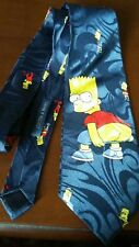 Cravatta da collezione Bart Simpson, cucita a mano