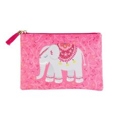 Mandala Pink  Elephant Pouch  Make up bag Pencil Case by Sass and Belle Gift