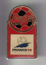 RARE PINS PIN'S ..  FOOTBALL SOCCER WORLD CUP FRANCE 98 COCA COLA COKE TEAM  ~DY