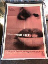 "Stolen Kisses 1969 Original 1 Sheet Movie Poster 27""x41"" (Fine Condition) Voles"