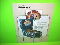 Williams TIME FANTASY Original 1983 Flipper Arcade Game Pinball Machine Flyer