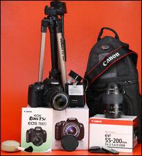 Canon EOS 700D DSLR Telecamera + Canon 18-55mm Kit Obiettivo +1080p HD Video -1,309 scatti