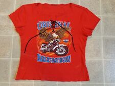 Vtg 2001 HARLEY DAVIDSON Yellowstone BLOUSE/TOP Ladies L Belgrade Montana Eagle