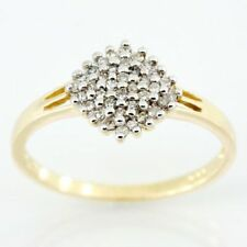Handmade Yellow Cluster Fine Rings