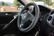 "15"" Steering Wheel Cover  Grey w/ Black Strip PVC Leather Wrap Sew On 47014L SUV"