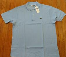 Mens Authentic Lacoste Classic Pique Polo Shirt Nattier Light Blue 7 2XL $89