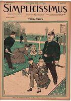 1897 Simplicissimus April 17 - Art Nouveau, German Doctor, Extremely Rare