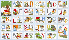 My ABC Alphabet Vintage Look Quilt Fabric Book Panel *New*