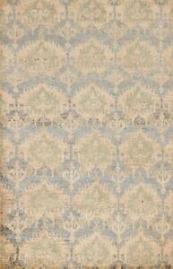Geometric Transitional Oushak Oriental Area Rug Jute Hand-knotted 6'x9' Carpet