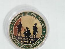 General Dynamics Always At the Ready / Forever Free / Challenge Coin / New