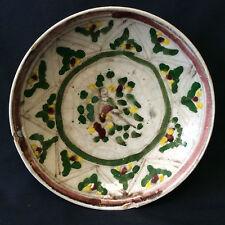 Turquie plat en faïence Iznik pâte siliceuse craquelée XIXe siècle TÜRKIYE