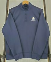ADIDAS CLIMALITE Medium Mens 1/4 Zip Jacket Pullover Golf Casual Ryder Cup 2012